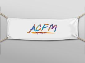 Bache avec oeillets imprimé ACFM signalétique