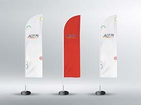 Réalisation drapeaux ACFM