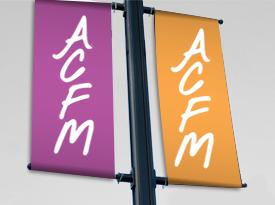 calicot avec fourreaux signalétique ACFM