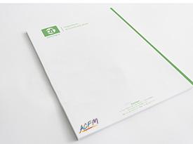 Réalisation tête de lettre ACFM